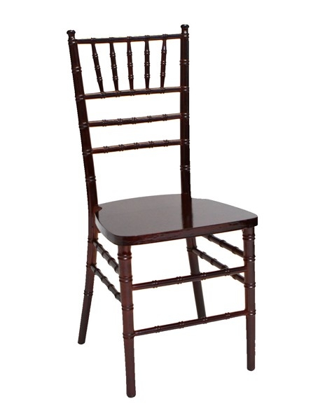 mahogany resin chiavari chair steel core free cushion