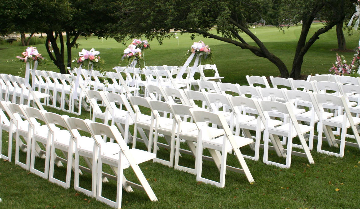 White Resin Folding Chairs Padded Discount Prices