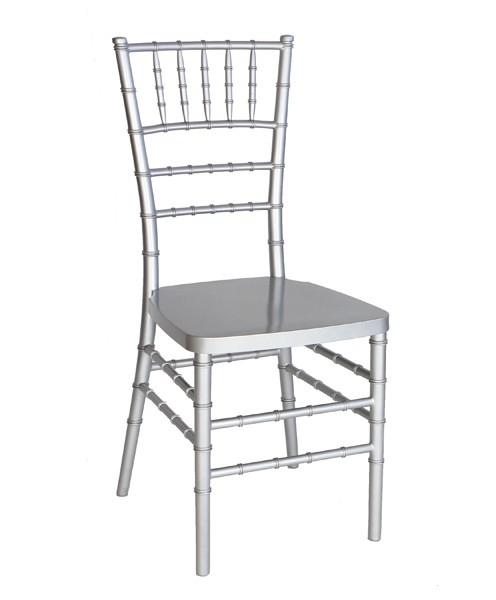Silver Resin Chiavari Chair  Steel Core  Free Cushion