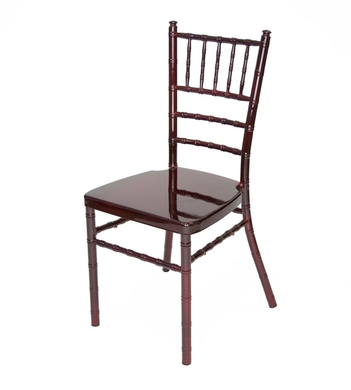 LOWEST PRICES MAHOGANY Aluminum Chiavari Chairs, Steel