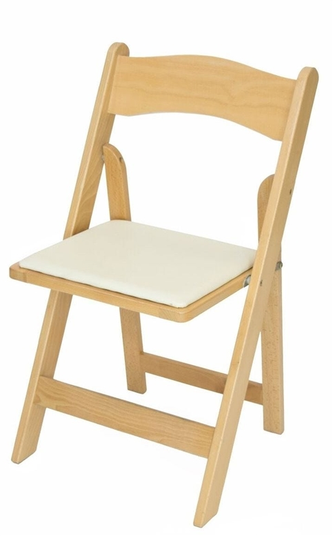 Discount natural wood padded folding chairs miami florida