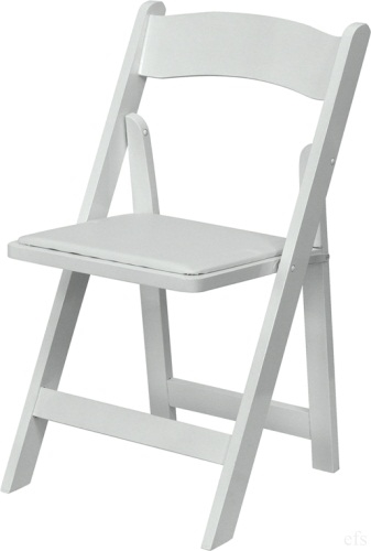 Free Shipping White Wood Padded Folding Chairs Miami