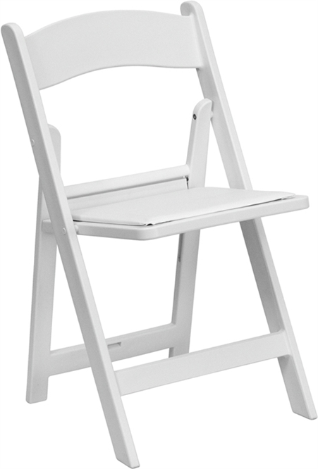 Free Shipping Discount White Resin Padded Folding Chairs