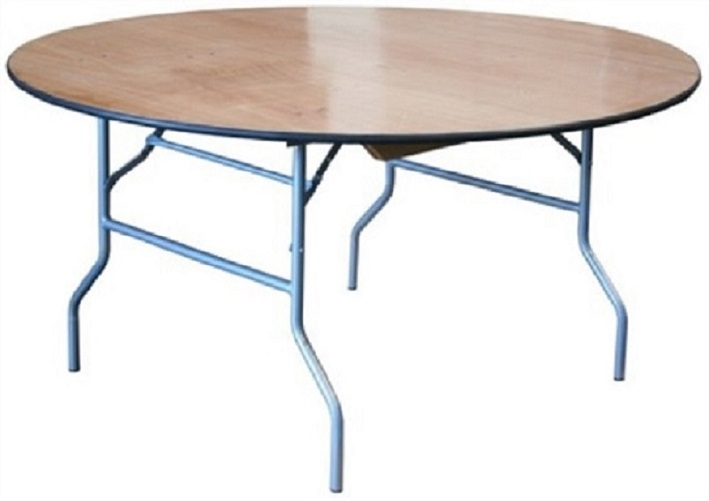 Wholesale Price 60 Wood Round Folding Tables