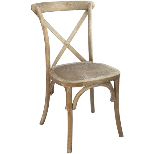X Back Natural Cross Back Chair